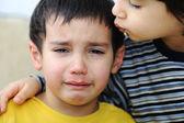 Crying kid, emotional scene — Stock Photo