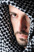 Man with arabic palestinian colors — Stock Photo