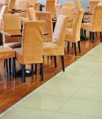 Chairs in restaurant — Stockfoto