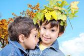 Fall kids — Stock Photo
