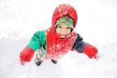 Szczęście zima — Zdjęcie stockowe