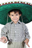 Cute kid with mexican hat on head — Stock Photo