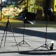 Photography setup with some equipment - Stock Photo