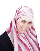 Muslim covered beautiful happy woman — Stock Photo