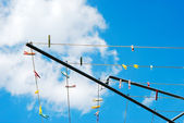 Loundry clothesline empty — Stock Photo