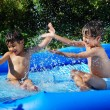 Royalty-Free Stock Photo: Children activities on swiming pool in summer