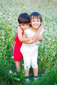 Two little brothers loving each other — Stock Photo