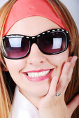 Adorable girl with glasses — Stock Photo