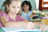 Pupil activities in the classroom at school — Stock Photo