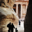 Petra jordan treasury building - Stock Photo