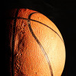 Basketball ball in dark — Stock Photo