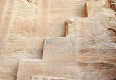 Oldest rock stairs, old nabatian culture, Petra, Jordan — Zdjęcie stockowe