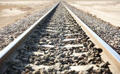 Desert railroad — Stock Photo