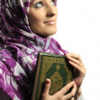 Beautiful Muslim fashion girl — Stock Photo