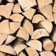 Stock Photo: Freshly chopped fire wood