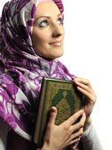 Beautiful Muslim fashion girl — Stockfoto