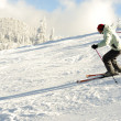 Skier on snow — Stock Photo