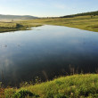 Small lake in nature in the morning - Lizenzfreies Foto