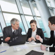 Business discussion at meeting room — Stock Photo