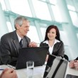Stock Photo: Business meeting - group of in office at presentation