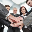 Group of business with hands together for unity and partn — Stock Photo