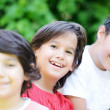 Stock Photo: Group of kids outdoors