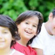Group of kids outdoors — Stock Photo