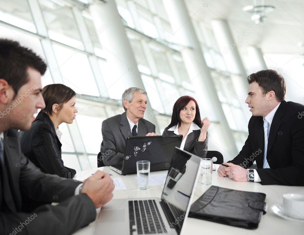 Stock Photo Businesspeople Having A Business Meeting