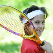Child playing tennis — Stock Photo #21541201