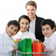 Mother with children in shopping — Stock Photo #21542061