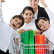 Mother with children in shopping — Stock Photo #21542131