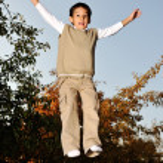 Kid jumping very high — Stock Photo #21543021