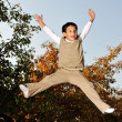 Kid jumping very high — Stock Photo