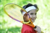 Kind tennissen — Stockfoto