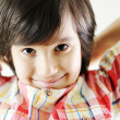 Closeup portrait of kid — Foto Stock