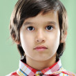 Closeup portrait of real child — Stockfoto