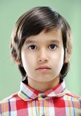 Closeup portrait of real child — Stock Photo