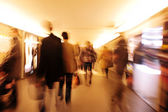 Crowd walking in the city at night — Stock Photo