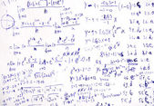 Math sketch formulas on paper — Stock Photo