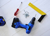 Drill and working tools equipment — 图库照片