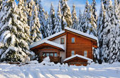 Winter beautiful snow house in forest — Stock Photo