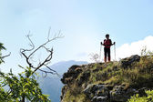 Woman trekking — Stock Photo