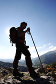 Woman trekking — Stock Photo