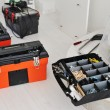 Stock Photo: Toolbox with instruments and equipment for work