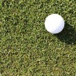 Golf ball on grass field — Stock Photo #26238459