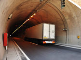 Truck in tunnel — Stock Photo