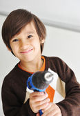Kid with drill tool — Stock Photo