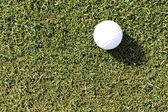 Golf ball on grass field — Stock Photo