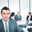 Portrait of young businessman in the office — Stock Photo