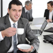 Businessmin business ambience drinking cofee — Foto Stock #26245999